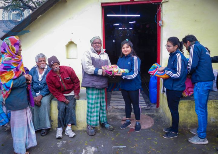 Distribution of Blankets and Food items to Leprosy Patients