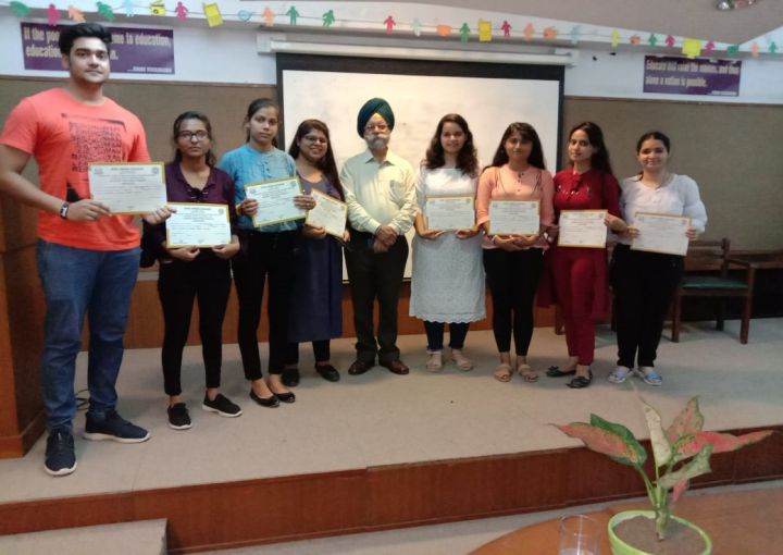 Summer Internship Program at different colleges of University of Delhi