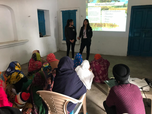 Awareness and Conservation of Wetlands  At  Sultanpur Village,