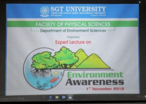 Expert Lecture on Environment Awareness Organized