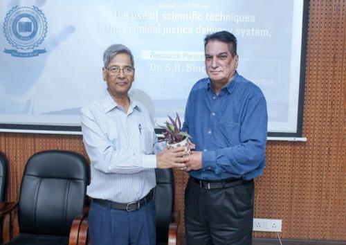 Guest Lecture on The use of scientific techniques in the criminal justice system Organised by  360˚ Forensic Association